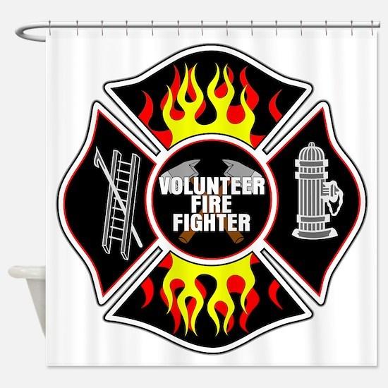 Volunteer Firefighter Shower Curtain