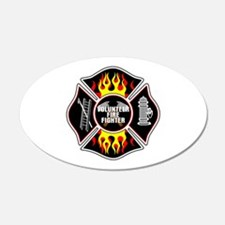 Volunteer Firefighter Wall Decal