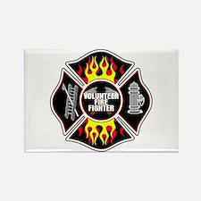 Volunteer Firefighter Rectangle Magnet