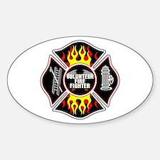 Volunteer Firefighter Sticker (Oval)