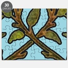 William Morris Vintage Tree Floral Design Puzzle