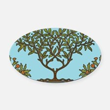 William Morris Vintage Tree Floral Design Oval Car