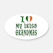 I Love My Irish Grandmas Oval Car Magnet