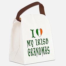 I Love My Irish Grandmas Canvas Lunch Bag