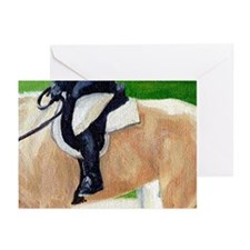 Palomino Horse Hunt Seat Greeting Cards