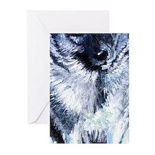 Norwegian Elkhound Dog Greeting Cards