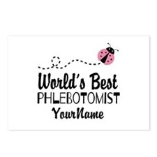 World's Best Phlebotomist Postcards (Package of 8)