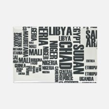 Typography Map Magnets