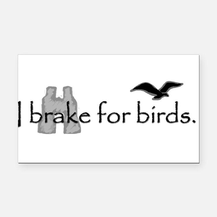 Cute Bird watchers Rectangle Car Magnet
