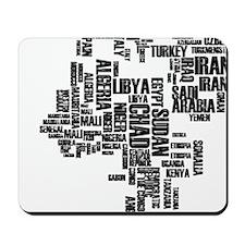 Typography Map Mousepad
