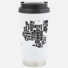 Typography Map Travel Mug
