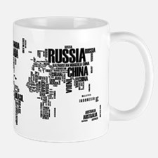 Typography Map Mugs