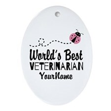 World's Best Veterinarian Ornament (Oval)