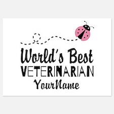 World's Best Veterinarian Invitations
