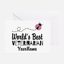 World's Best Veterinarian Greeting Card
