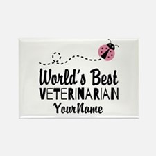 World's Best Veterinarian Rectangle Magnet