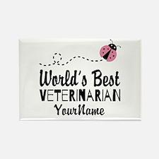 World's Best Veterinarian Rectangle Magnet