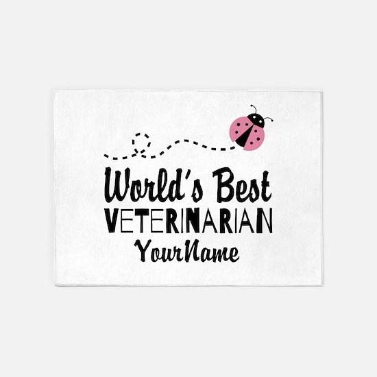 World's Best Veterinarian 5'x7'Area Rug