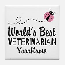World's Best Veterinarian Tile Coaster