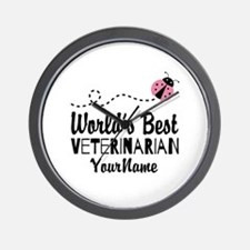 World's Best Veterinarian Wall Clock