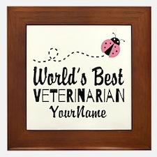 World's Best Veterinarian Framed Tile