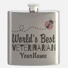 World's Best Veterinarian Flask