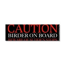Cute Birder Car Magnet 10 x 3