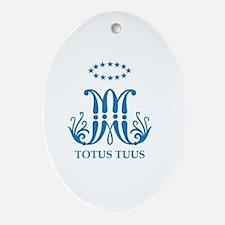 Ave Maria, Totus Tuus Oval Ornament