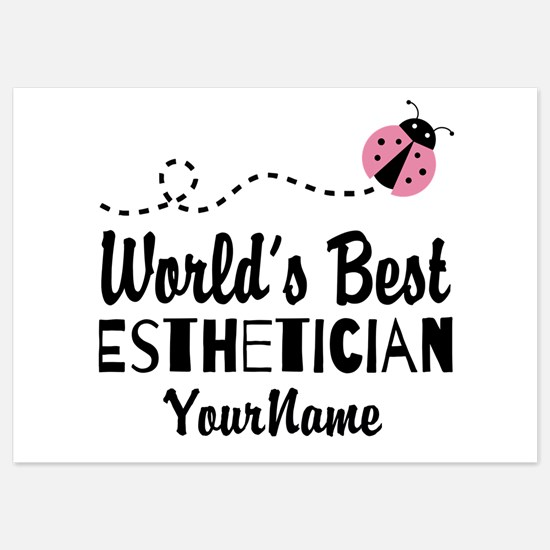 World's Best Esthetician 5x7 Flat Cards