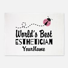 World's Best Esthetician 5'x7'Area Rug