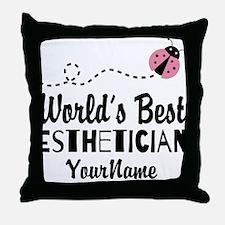 World's Best Esthetician Throw Pillow