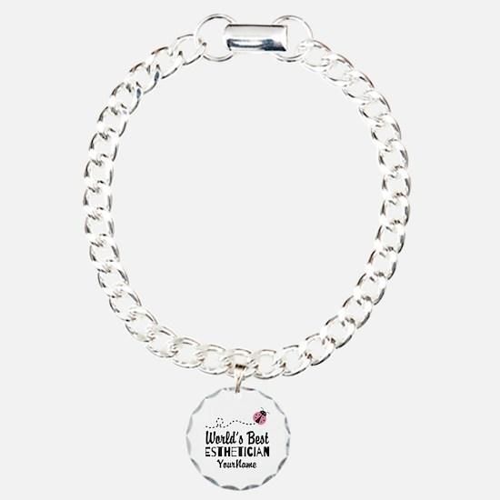 World's Best Esthetician Charm Bracelet, One Charm