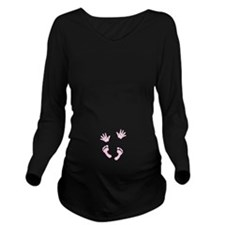 Baby Print By Leslie Long Sleeve Maternity T-Shirt