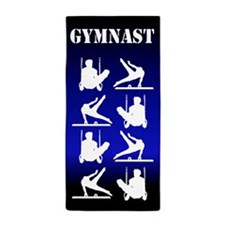 Powerful Gymnast Beach Towel