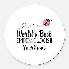 World's Best Epidemiologist Round Car Magnet