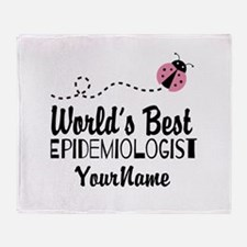 World's Best Epidemiologist Throw Blanket
