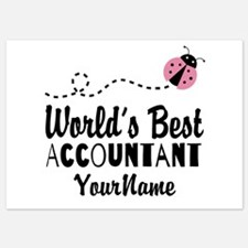 World's Best Accountant Invitations
