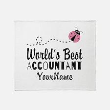 World's Best Accountant Throw Blanket