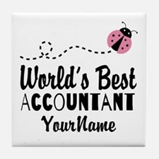 World's Best Accountant Tile Coaster