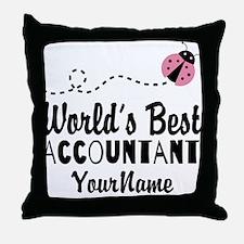 World's Best Accountant Throw Pillow