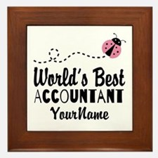 World's Best Accountant Framed Tile