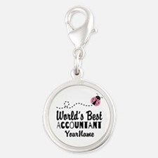 World's Best Accountant Silver Round Charm