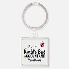 World's Best Accountant Square Keychain