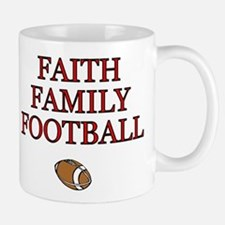 FAITH FAMILY FOOTBALL Mugs