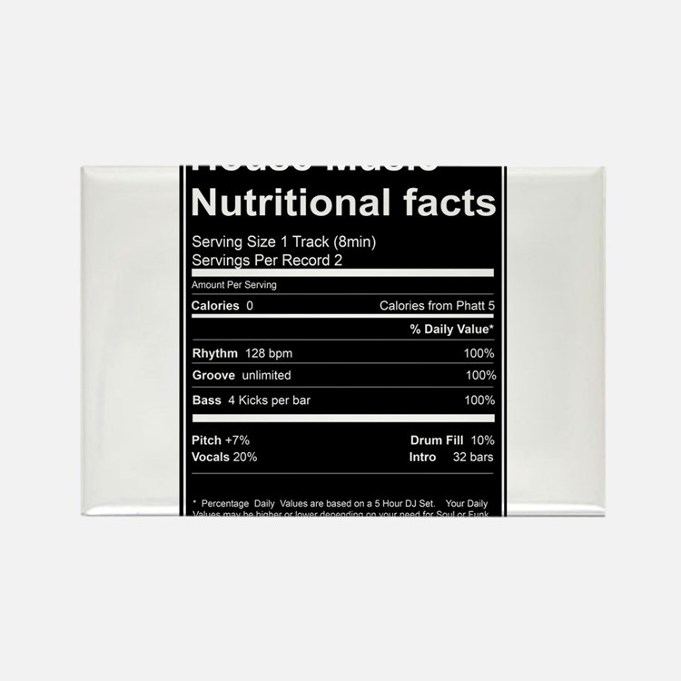 Nutrition facts magnets nutrition facts refrigerator for House music facts