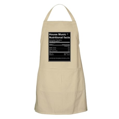 House music nutritional facts apron by dirtymonkeyts for House music facts
