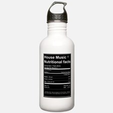 House Music Nutritional Facts Sports Water Bottle