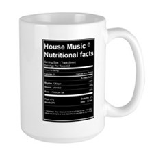 House Music Nutritional Facts Mugs