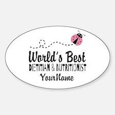 World's Best Dietitian Sticker (Oval)