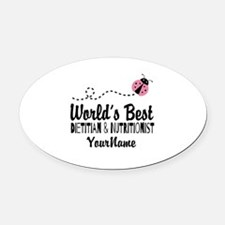 World's Best Dietitian Oval Car Magnet